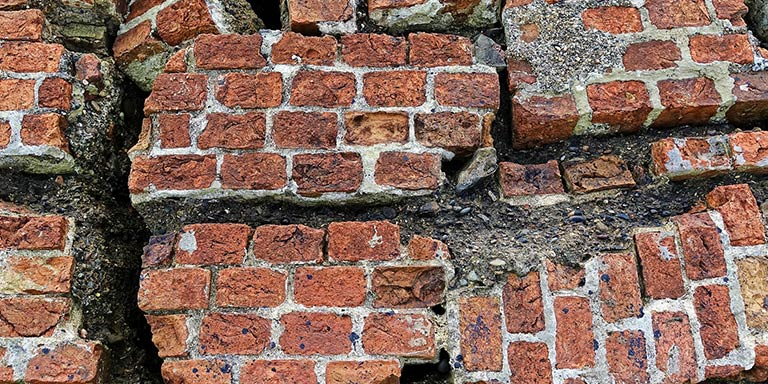 crumbling bricks