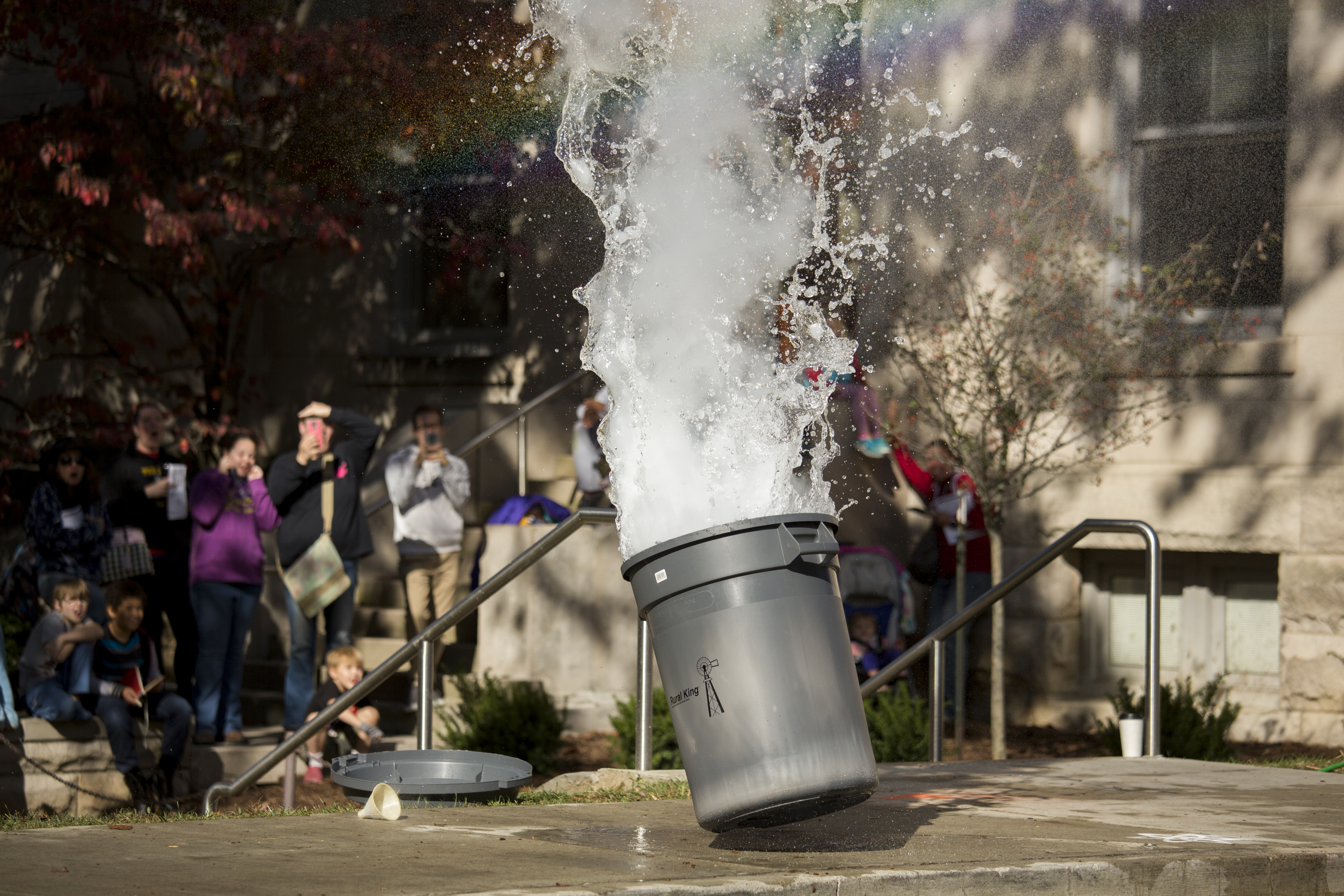 Garbage can experiment exploding